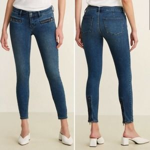 Free People Low Rise Skinny Zip Ankle Jeans 27
